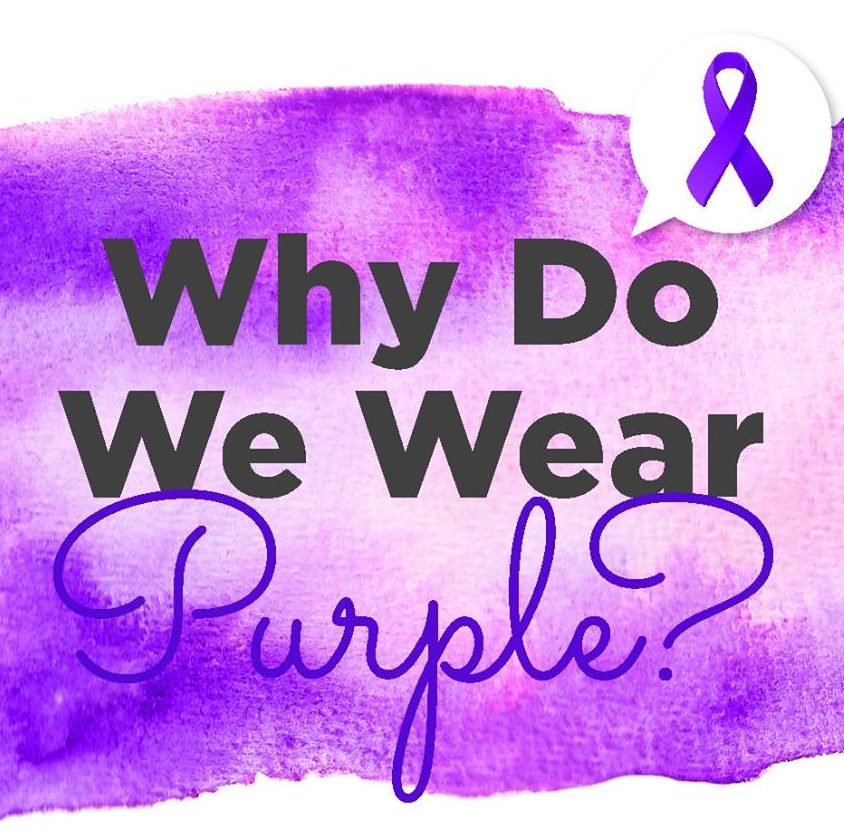 Why do we wear purple in October?