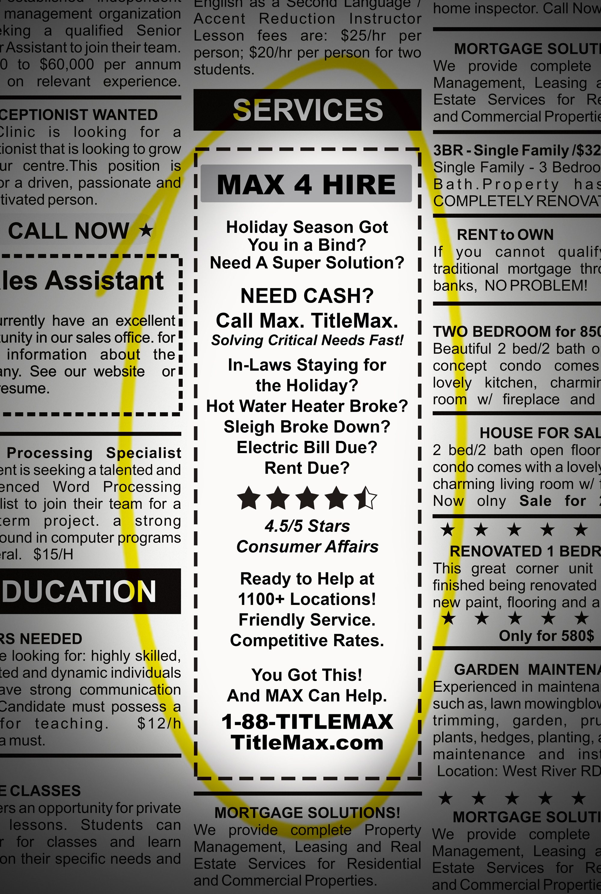 Max 4 Hire. Mighty Max to the rescue!