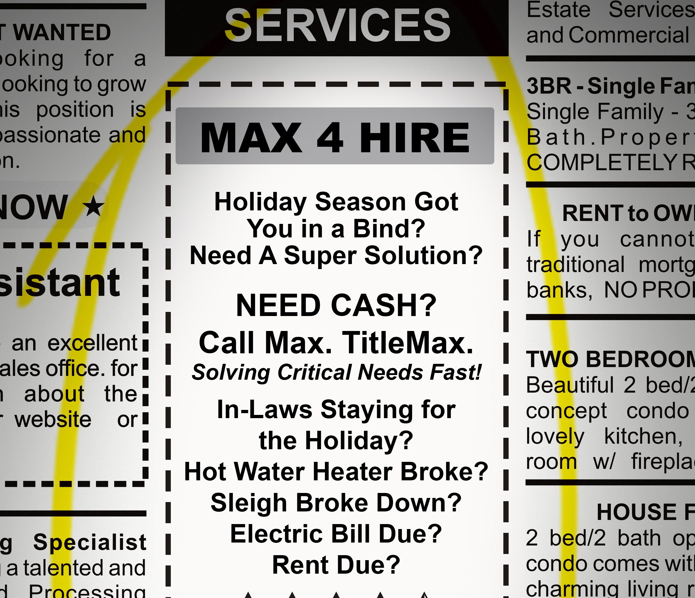 Max 4 Hire! Holiday Season Got You in a Bind? Need a Super Solution?