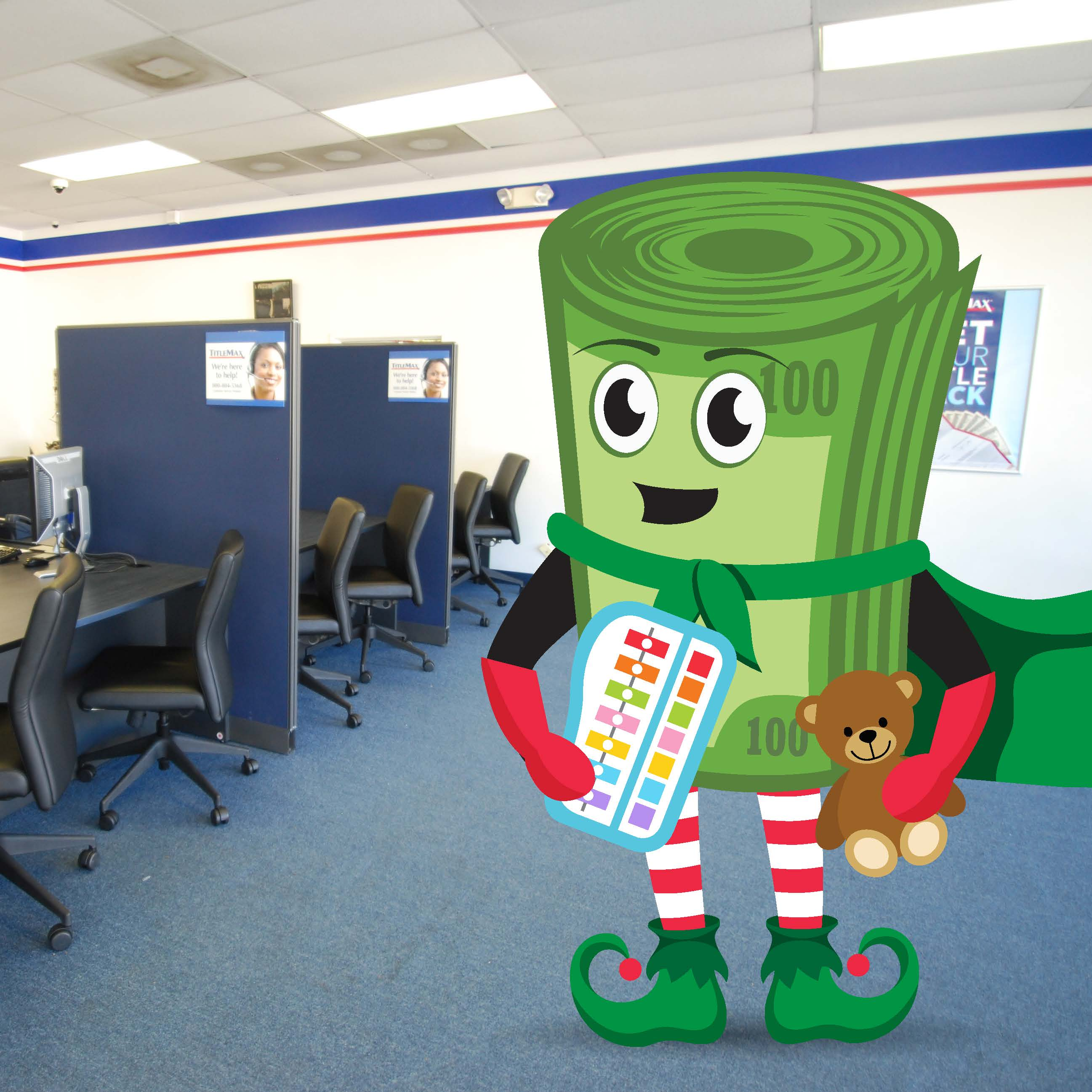 TitleMax Holiday Toy Drive with Max