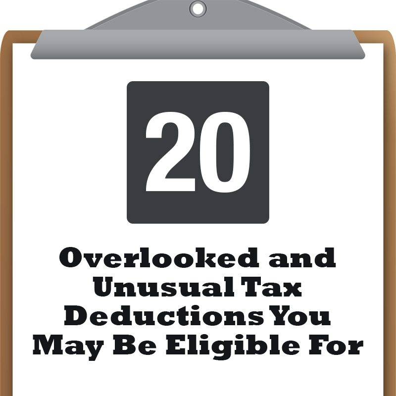 Outlandish Tax Deductions You've Never Heard of But May Be Eligible For