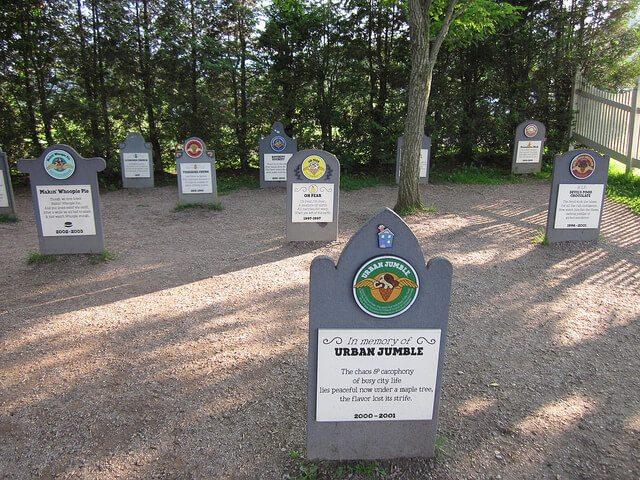 Ben & Jerry's Flavor Graveyard — Waterbury, Vermont