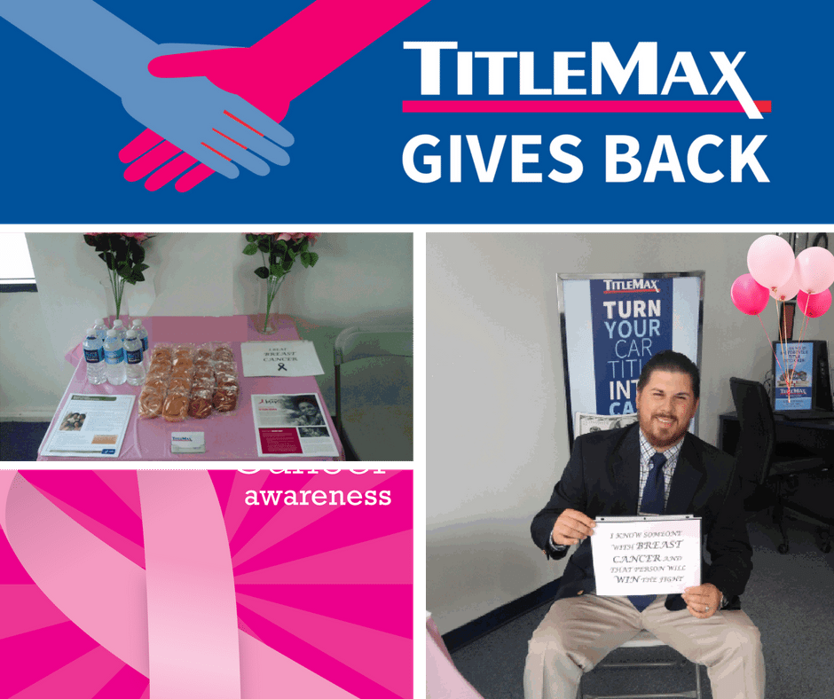 TitleMax Gives Back – TitleMax of Eufaula, Alabama Makes Great Strides in Breast Cancer Awareness